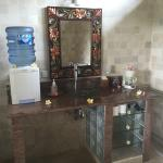 Beautiful bathroom with outside shower and bath. Filtered water a plus!