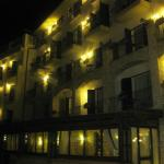 The Ariston hotel by night