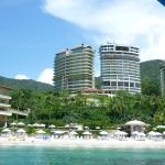 Another view of resort from the ocean