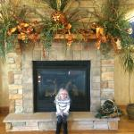 Our daughter in the gorgeous lobby