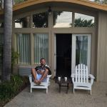 Sean relaxing outside our suite!
