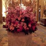 Flower arrangement in lobby