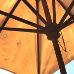 Parasol by the pool