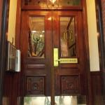 Entrance door to the building