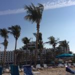 Hotel front from beach