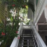 Stairway to 2nd story rooms