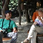 Teri with the best Peru birding guide- Steve Sanchez Calle