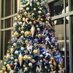 Christmas tree in the foyer bar