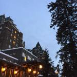 Banff Springs Hotel at dusk