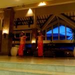Little girls performing Balinese dance in the lobby
