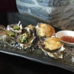 Oyster cooked in 3 different styles