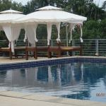 Flat beds at pool area