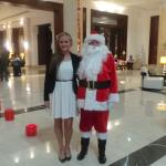 Holly Ison with Santa.