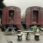 Restored train cars