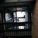 hallway to outside on third floor