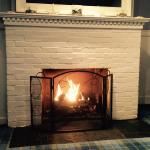 Living room fireplace - Inn building