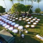 Society Wedding on the lawns-view from d/l room