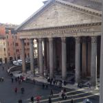 View of the pantheon from our room
