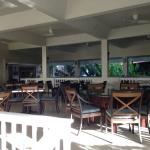 The outdoor section of Tradewinds Restaurant, just one of many dining areas.
