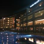 Hotel at night with the Infinity pool