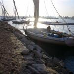 Ready for the sunset sail in the felucca