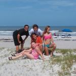 Kids and friends enjoying Cocoa Beach
