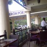 view of the restaurant verandah..