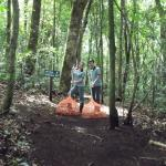 High School students cleaning the trails