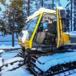 John with our snow plow to clear that road