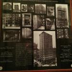 History of the building in the hotel lobby.