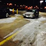 Icy Parking Lot (3 days after snow fall)