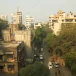 Couldn't expect much better from the view in the heart of Mumbai. The street was relatively quie
