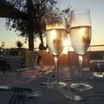 Prosecco at sunset