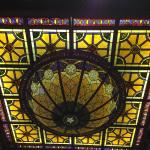 Stained glass work in lobby