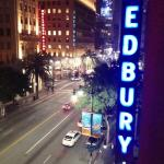 Our view of Hollywood and Vine intersection from our balcony!