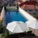The top roof swimming pool