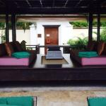 Quiet outdoor area at the rear of the villa, a magical place to sit, talk, read ( and free wifi
