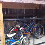 The outdoor bike rack