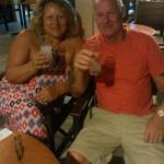 at the bar cheers Billy and Costa