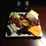 Fruit and cheese plate compliments of the manager!