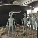 A fun art installation at the UFO Museum in Roswell, NM