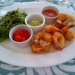 coco shrimp and guava dip a favourite lunch