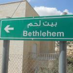 A pointer sign to Bethlehem
