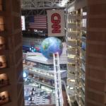 View of CNN Center from Omni glass elevators