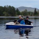 Hilarious parents and older son on the paddle boat, he didn't quite fit but made for a funny sto