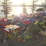 Friday night Twilight markets in January are literally within metres of your unit