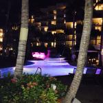 Marriott Stellaris pool in the evening