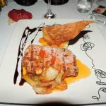 Grilled Tuna at the Italian restaurant, make reservations early