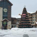 town square near the ski base