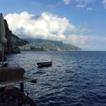 View from pool towards Amalfi